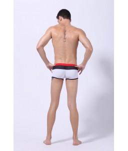 Sextoys, sexshop, loveshop, lingerie sexy : Maillot de Bain Sexy : Maillot de Bain Sexy Boxer Blanc Taille M Modèle : Space
