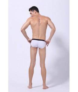 Sextoys, sexshop, loveshop, lingerie sexy : Maillot de Bain Sexy : Maillot de Bain Sexy Boxer Blanc Taille L Modèle : Pacha