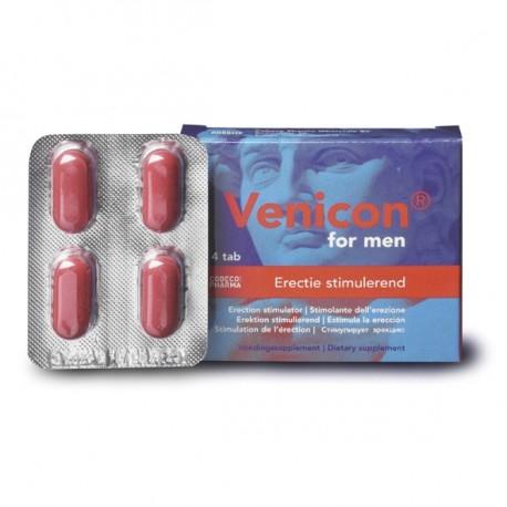 Sextoys, sexshop, loveshop, lingerie sexy : Aphrodisiaques : Venicon Pour Homme 4 pilules Pour l'aide à L'érection