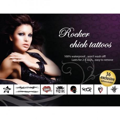 Sextoys, sexshop, loveshop, lingerie sexy : Accessoires Soirée Coquine : Tatouage Temporaire - Tattoo éphémère Rocker Chick