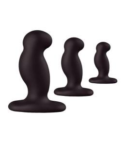 Sextoys, sexshop, loveshop, lingerie sexy : Sextoys luxe : Nexus Anal Starter Kit 3 Plug Anal Noir