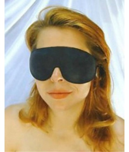 Sextoys, sexshop, loveshop, lingerie sexy : Masques sexy : Masque opaque noir simili cuir intèrieur velours