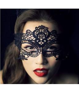 Sextoys, sexshop, loveshop, lingerie sexy : Masques : Masque sexy dentelle / Broderie noir