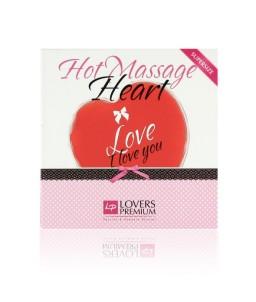 Sextoys, sexshop, loveshop, lingerie sexy : Huiles de Massage : Coeurs de Massage Chauffant XL LoversPremium