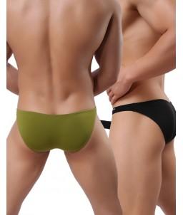 Sextoys, sexshop, loveshop, lingerie sexy : Boxers & Strings : Slip Sexy Homme Blanc avec étui pour pénis Taille M