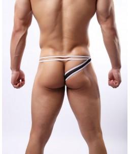 Sextoys, sexshop, loveshop, lingerie sexy : Boxers & Strings : String Sexy Homme Noir à Lanière Taille M