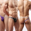 Sextoys, sexshop, loveshop, lingerie sexy : Boxers & Strings : String Sexy Homme Noir à Lanière Taille L