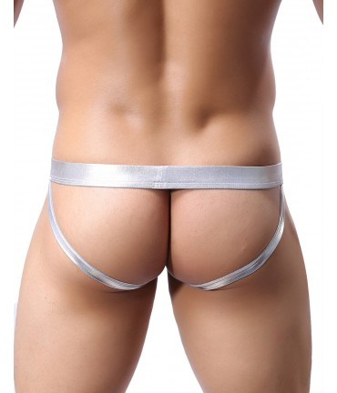 Sextoys, sexshop, loveshop, lingerie sexy : Boxers & Strings : String JockStrap Sexy Homme Argent Taille M