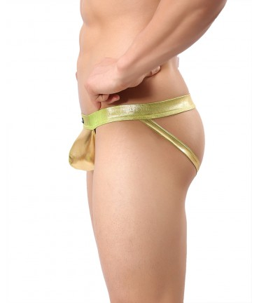 Sextoys, sexshop, loveshop, lingerie sexy : Boxers & Strings : String JockStrap Sexy Homme Or Taille M