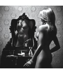Sextoys, sexshop, loveshop, lingerie sexy : Nippies Cache Seins : Cache Seins et Pubis Petits Joujoux – Ensemble Gloria Argent