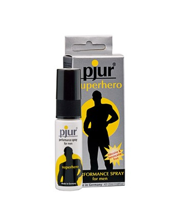 Sextoys, sexshop, loveshop, lingerie sexy : Lubrifiants : Pjur Superhero Spray Retardant