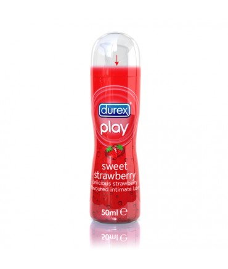 Sextoys, sexshop, loveshop, lingerie sexy : Lubrifiants à Base d'Eau : Durex Play sweet stawberry