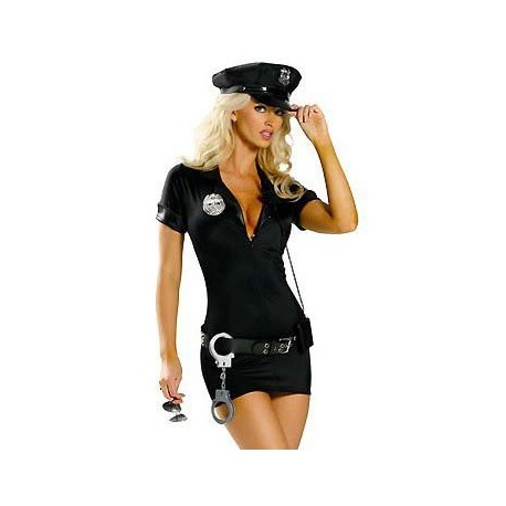 Sextoys, sexshop, loveshop, lingerie sexy : Deguisement police sexy : Costume Sexy Police Robe L