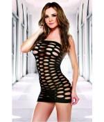 Sextoys, sexshop, loveshop, lingerie sexy : Clubwear / Tenues Sexy : mini robe sexy en résille noire