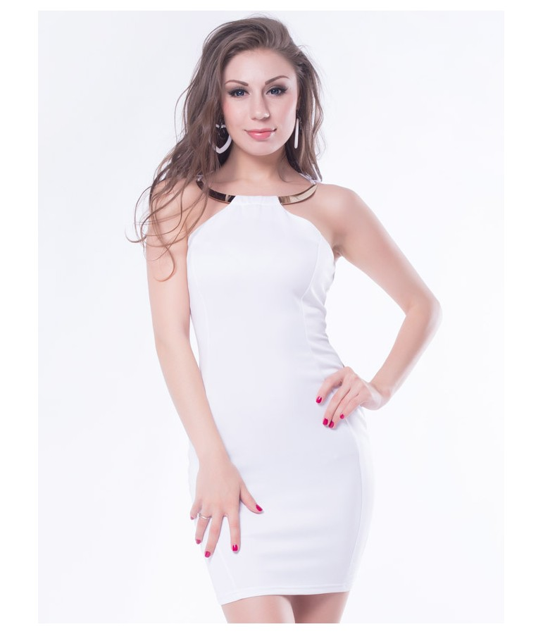 robe sexy blanche moulante m discount pas cher sexshop eveselache. Black Bedroom Furniture Sets. Home Design Ideas