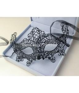 Sextoys, sexshop, loveshop, lingerie sexy : Masques : masque loup dentelle noire sexy