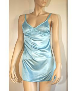 Sextoys, sexshop, loveshop, lingerie sexy : Lingerie sexy grande taille : Nuisette sexy Bleue avec String XL