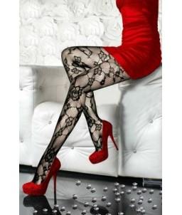 Sextoys, sexshop, loveshop, lingerie sexy : Bas & Collants : Sexy Collant Résille Noir motif fleur 8181
