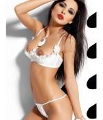 Sextoys, sexshop, loveshop, lingerie sexy : Ensemble lingerie sexy : Ensemble Lingerie sexy demi sein blanc