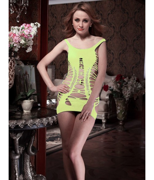Sextoys, sexshop, loveshop, lingerie sexy : Robes sexy : robe sexy jaune stappy 2 en 1