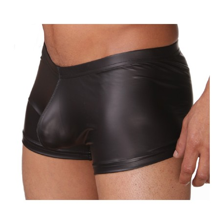 """Sextoys, sexshop, loveshop, lingerie sexy : Boxers & Strings : Boxer Moulant Noir """"L"""" Style Cuir"""