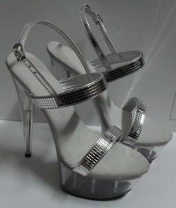 Sextoys, sexshop, loveshop, lingerie sexy : Chaussures : Chaussure Mules Sexy Argentée