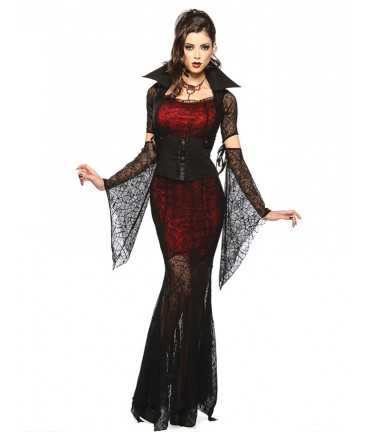 Sextoys, sexshop, loveshop, lingerie sexy : Deguisement Femme sexy : Costume Sexy Morticia Halloween