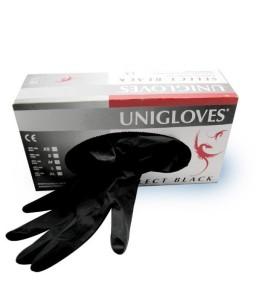 Sextoys, sexshop, loveshop, lingerie sexy : Santé-Beauté-Hygiène : Gants latex noir unigloves L par 100