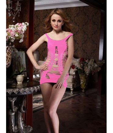 Sextoys, sexshop, loveshop, lingerie sexy : Robes sexy : robe sexy rose stappy