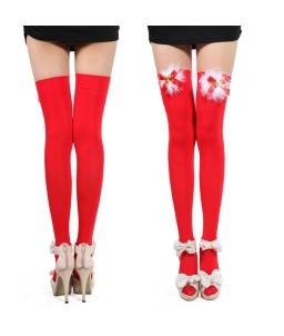 Sextoys, sexshop, loveshop, lingerie sexy : Bas & Collants : Sexy Bas Rouge noel