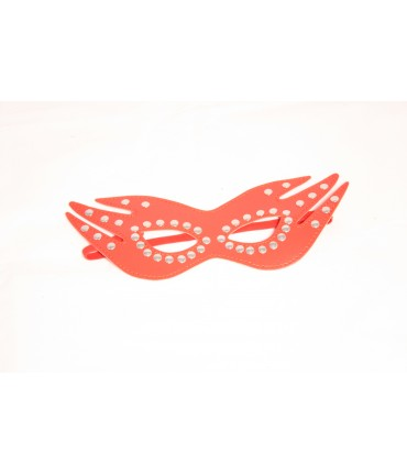 Sextoys, sexshop, loveshop, lingerie sexy : Masques : masque simili cuir rouge