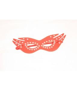 Sextoys, sexshop, loveshop, lingerie sexy : Masques : masque simili cuir rouge