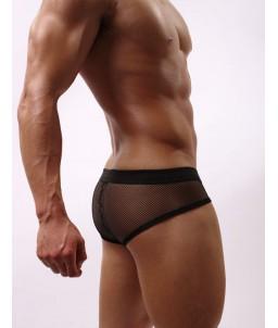 """Sextoys, sexshop, loveshop, lingerie sexy : Boxers & Strings : Boxer Maille Noir """"M"""""""