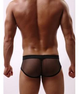 """Sextoys, sexshop, loveshop, lingerie sexy : Boxers & Strings : Boxer Résille Noir """"L"""""""