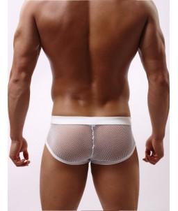"""Sextoys, sexshop, loveshop, lingerie sexy : Boxers & Strings : Boxer Résille Blanc """"L"""""""