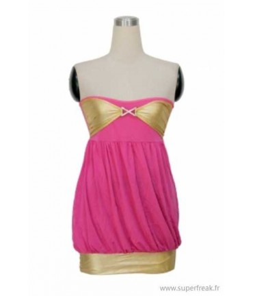 Sextoys, sexshop, loveshop, lingerie sexy : Clubwear / Tenues Sexy : Mini Robe Sexy Rose et or