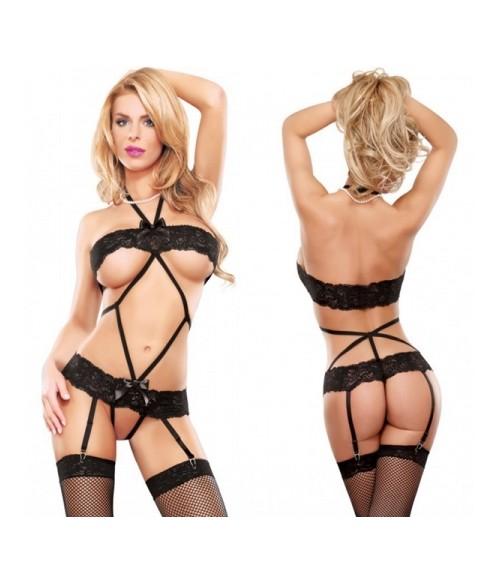 Sextoys, sexshop, loveshop, lingerie sexy : Bodys & Teddys : Sexy Body String noir