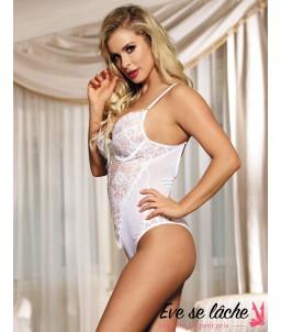 Sextoys, sexshop, loveshop, lingerie sexy : Bodys & Teddys : Body sexy blanc