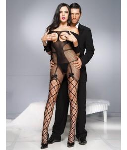 Sextoys, sexshop, loveshop, lingerie sexy : Combinaisons : Combinaison Résille Sexy Manches Longues