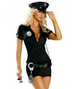 Sextoys, sexshop, loveshop, lingerie sexy : Deguisement police sexy : Costume Sexy Police Robe XL