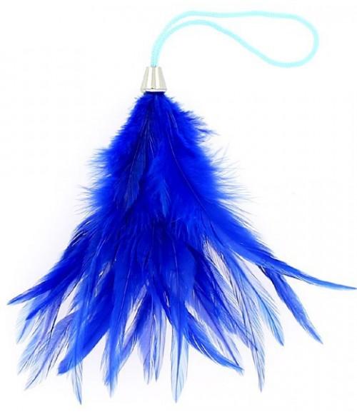 Sextoys, sexshop, loveshop, lingerie sexy : Caresses et Masques : Bracelet Plume bleu Pour Caresses
