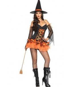 Sextoys, sexshop, loveshop, lingerie sexy : Deguisement Femme sexy : Costume Sexy de Sorcière - Halloween