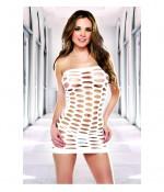Sextoys, sexshop, loveshop, lingerie sexy : Clubwear / Tenues Sexy : mini robe sexy en résille blanche