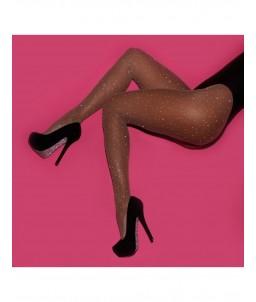 Sextoys, sexshop, loveshop, lingerie sexy : Bas & Collants : Sexy collant resille avec strass couleur chair