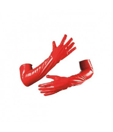 Sextoys, sexshop, loveshop, lingerie sexy : gants sexy : Gants vinyle Rouge Long