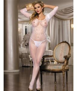 Sextoys, sexshop, loveshop, lingerie sexy : Combinaisons : Sexy Combinaison résille blanche TU