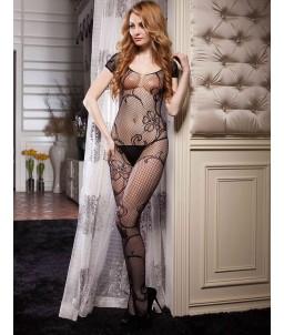 Sextoys, sexshop, loveshop, lingerie sexy : Combinaisons : Combinaison sexy noir floral