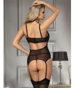 Sextoys, sexshop, loveshop, lingerie sexy : Bodys & Teddys : Ensemble Sexy guépière noir 5803