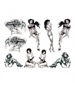 Sextoys, sexshop, loveshop, lingerie sexy : Accessoires Soirée Coquine : Tatouage Temporaire - Tattoo éphémère Sexy pin- up