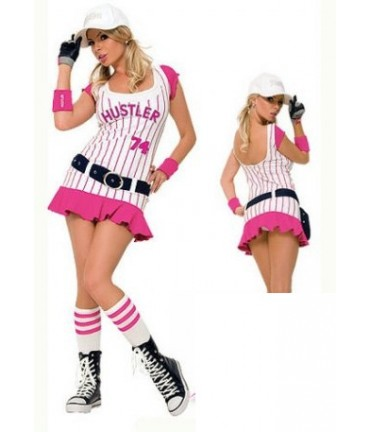 Sextoys, sexshop, loveshop, lingerie sexy : Deguisement Femme sexy : Costume Sexy BaseBall Girl Rose